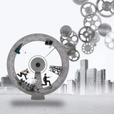 3D renderingu pracy zespołowej mechanizm zdjęcia stock