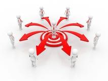 3d renderingu sieci biznesowy pojęcie, lider, przywódctwo biznes ilustracja wektor
