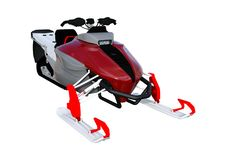 3D renderingu Snowmobile na bielu royalty ilustracja
