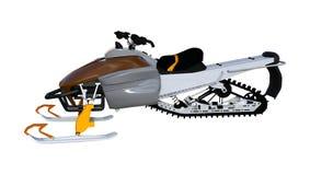 3D renderingu Snowmobile na bielu ilustracja wektor