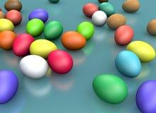 3d renderingu Wielkanocny wakacyjny skład, powitania pojęcie ilustracja wektor