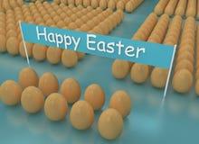 3d renderingu Wielkanocny wakacyjny skład, powitania pojęcie ilustracji