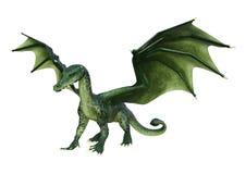 3D renderingu zieleni fantazji smok na białym tle fotografia royalty free