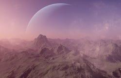 3d rendeu a arte do espaço: Planeta estrangeiro Foto de Stock
