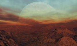 3d rendeu a arte do espaço: Planeta estrangeiro Imagens de Stock