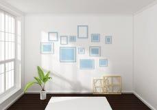 3d rendeu a composição interior Imagem de Stock