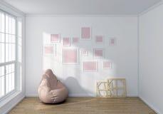3d rendeu a composição interior Foto de Stock Royalty Free