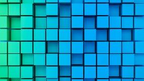 3d rendeu cubos abstratos ilustração stock