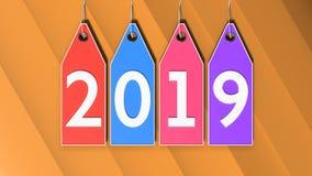 3d rendeu 2019 em etiquetas da compra Imagem de Stock Royalty Free