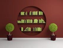 3d rendeu estantes Foto de Stock Royalty Free