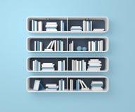 3d rendeu estantes Fotografia de Stock Royalty Free