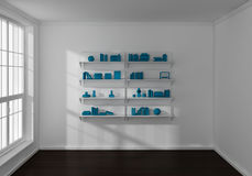 3d rendeu estantes Foto de Stock