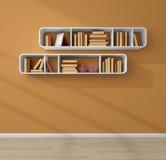 3d rendeu estantes Imagem de Stock
