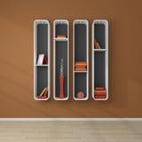 3d rendeu estantes Imagens de Stock Royalty Free