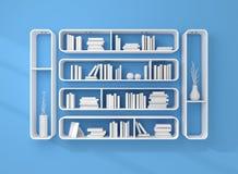 3d rendeu estantes Imagens de Stock