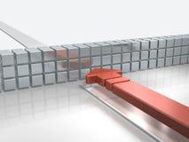 3D rendeu a imagem que descreve a prevenção da intrusão na beira ilustração do vetor
