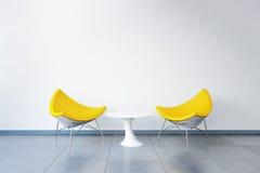 3D rendeu o espaço de escritórios Fotografia de Stock