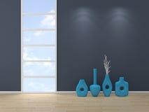 3D rendeu o interior Imagens de Stock Royalty Free