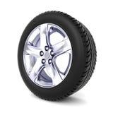 pneu 3D no fundo branco ilustração do vetor
