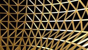 3D rendeu o teste padrão abstrato dourado da decoração ilustração stock
