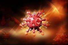 3d rendeu o v?rus do VIH no c?rrego do sangue no fundo da cor ilustração stock