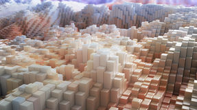 3D rendeu paisagens Imagem de Stock