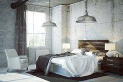 3D rendeu a sala da cama ilustração stock