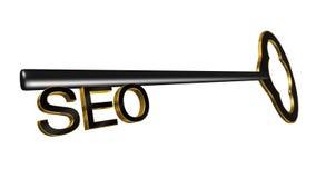 3D rendeu SEO Key Illustration Fotografia de Stock
