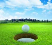 3D rendição, bola de golfe, fotos de stock