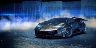 3D rendição - carro genérico do conceito Fotografia de Stock