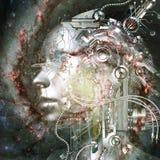 3D rendição de um Cyborg - elementos pela NASA Fotografia de Stock