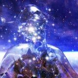3D rendição de um Cyborg - elementos pela NASA Fotografia de Stock Royalty Free