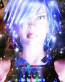 3D rendição de uma cara fêmea - elementos pela NASA Fotografia de Stock Royalty Free