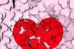 3d rendição, elementos do dia de Valentim ilustração stock