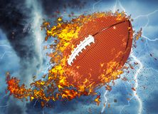 3D rendi??o, futebol americano, fotos de stock royalty free