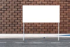 3d rendi??o, quadro de avisos de propaganda no lado da estrada ilustração do vetor