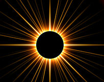 3D rendido eclipsou o sol ilustração do vetor