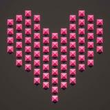 3d rendido, forma branca abstrata, cor-de-rosa ilustração royalty free