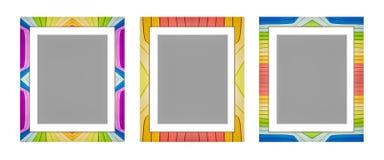 3d rendido, marco colorido, aislado en el fondo blanco ilustración del vector