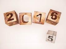 3d rendido, mudança abstrata 2015 2016 do ano ilustração do vetor