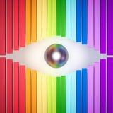 3d rendido, olho colorido do sumário do arco-íris ilustração do vetor