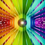 3d rendido, olho colorido do sumário do arco-íris ilustração royalty free