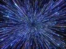 3d rendono, Big Bang, galassia, fondo cosmico astratto, fuochi d'artificio, celesti, universo, velocità della luce, stelle al neo royalty illustrazione gratis