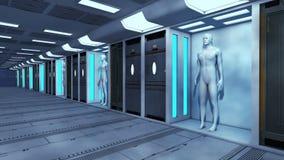 3d rendono Clone umano royalty illustrazione gratis