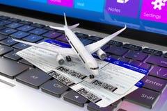 3d rendono Concetto astratto creativo di viaggio d'affari dell'aria, di turismo e del trasporto Fotografia Stock