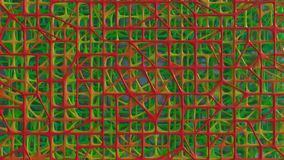 3D rendono degli elementi caotici astratti immagini stock libere da diritti