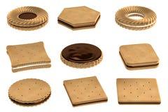 3d rendono dei biscotti illustrazione vettoriale