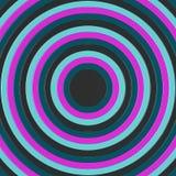 3D rendono dei cerchi concentrici che incresing nella dimensione, riempiendo la struttura Immagini Stock