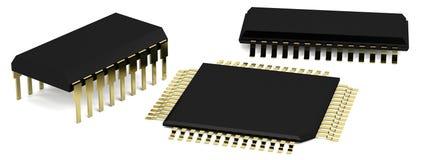3d rendono dei chip Fotografia Stock Libera da Diritti