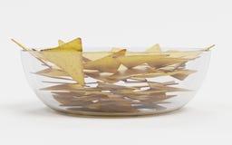 3D rendono dei chip di tortiglia Immagine Stock